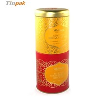 wholesale distinctive tall airtight round tea tin