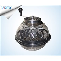 16 Inch Hand Driven  Clear Lid  Leaf Trimmer