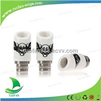 2014 New  Skull wide bore Ceramic Drip Tip 510 drip tips with fast shipping
