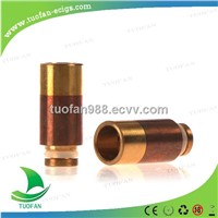 2014  New Wide bore Copper  Brass 510 wide bore drip tip for ecig watchcig e pipe