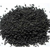 Recycled black rubber granules for filling