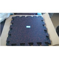 Deep lock interlock EPDM rubber flooring sheet