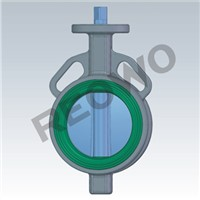 70C Series rubber lined butterfly valve