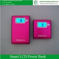 5200mAh(600) LCD digital display ,LED flash light,intelligent portabel charger, power bank