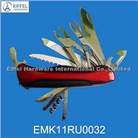 420 Stainless steel multi tool with Rubber & stainless steel handle(EMK11RU0032)