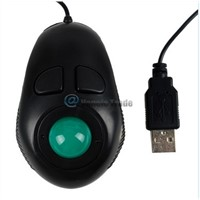 Finger Hand Held 4D USB Portable Trackball PC Computer Mouse[Black]