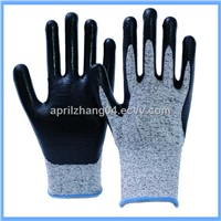 HPPE Nitrile Palm Coated Level 5 Cut Resistant Glove