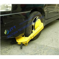 Wheel clamp, tire clamp,  wheel lock, wheel boot, Parking boot, Denver boot, wheel immobilized.