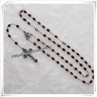 wood rosary , religious rosary ,Wooden beads Rosary for Gift
