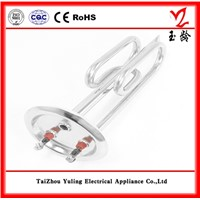 Stainless steel heater element for heating water