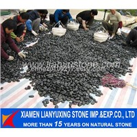 black pebble stone for decoration