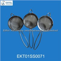 Stainless steel mesh strainer with different sizes (EKT01SS0071)