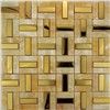 stone mosaic tile mix metal mosaic ( stainless steel mosaic for bathroom decoration)