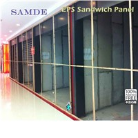 Prefabricated container house and luxury villa waterproof heat insulation sandwich wall panel