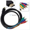 5Ft HDMI Male to 5 RCA 5-RCA RGB Audio Video AV Component Cable Gold Plated