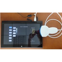 Tablet ultrasound scanner with USB probe