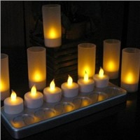 led rechargeable flashlight/rechargeable led tealight candles