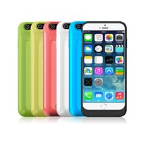 17.5Wh Power bank cases for iPhone 6 with bag, LED indicator 3500mah