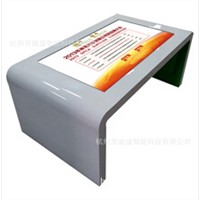 interactive table windows multi touch-screen table multi-media advertising kiosk