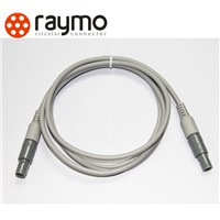 LEMO Plastic P-series connectors with cable for medical equipment, PAG/PKG/PRG, solder cable
