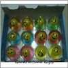 Promotion smile face led flash Bouncy bouncing ball toy printed logo