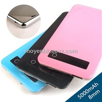 5000mAh slim power bank, 5000mAh portable battery charger, universal battery bank