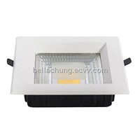 CE & Rohs approved 20W 1800lm square LED COB downlights