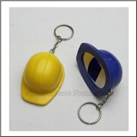 Promotional printed logo work cap hat shape bottle opener keychain keyrings gift