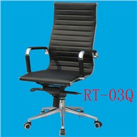 high back rotating lift up and down metal frame eames design leather cover wheel chair RT-03Q