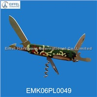Hot sale multi tool with customized handle pattern (EMK06PL0049)