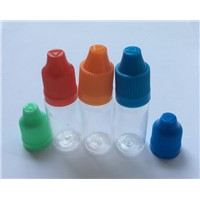 Plastic PET Clear E-liquid Bottle Needle Dropper E-juice Bottle Colorful Cap For Electronic Cigaret