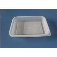 customized white or clear blister bread tray