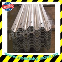 Road Safety Hot Dip Galvanized Steel Thrie Beam Guard Rail