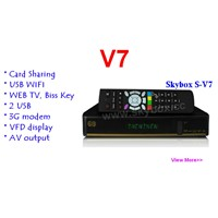 SKYBOX V7 Satellite Receiver VFD Support 2xUSB WEB TV