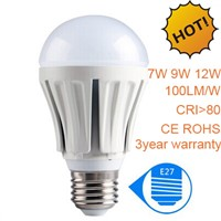 A60 7W LED Global Bulb,E27 LED Ball bulb