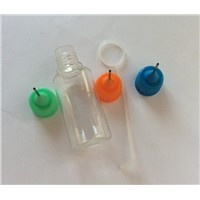 PET Meatl Thin Needle Tip Dropper Bottle For E-cigarette 15ML Plastic Clear Oil Colorful Cap Bottle
