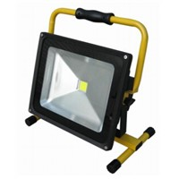 Taiwan Chips portable led rechargeable flood lights 10w 20w 30w 50w with 12V 24V 100-240V Charger