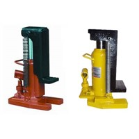 Hydraulic toe jack capacity from 2.5 tons to 100 tons
