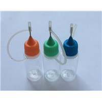 Promotion  10ml  PET  E-liquid  Bottle  With Metal Needle Tip Bottle And Color Cap For E-cig