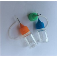 Plastic PET Needle Dropple  E-liquid Clear Bottle 5ml  Empty E-cigarette Bottle Colorful Cap Bottle