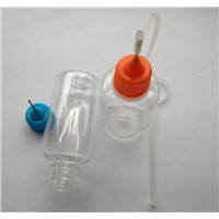 30ML PET  Plastic Empty E-juice Bottle  E-liquid Clear Bottle Metal Needle Tip Dropper For E-cigaret