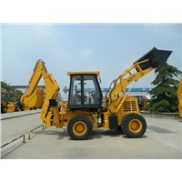 front end loader and back excavator backhoe loader