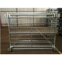 Galvanized Foldable Wire Mesh warehouse Container