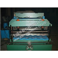 professional Aluminum / Color Steel Roof Tile Roll Forming Machine with Hydraulic Cutting