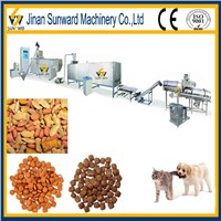 Good quality double screw dog food processing extruder
