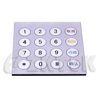 industrial metal numeric keypad (MKP2101, 100 mm x 100 mm)