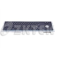MKT2662T black oxide 392x110 mm metal keyboard for kiosk and industrial computer
