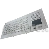 industrial metal keyboard with touchpad function keys and numeric keypad