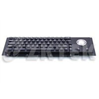 MKT2752T 372.0x102.0mm metal keyboard with trackball made of Cherry mechanic key switch for kiosk