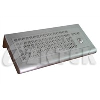 MWS2830 440mm x 200mm x 80mm panel mounted workstation metal keyboard with trackball